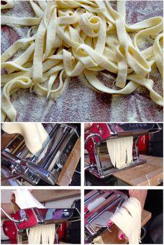 Aprenda como preparar uma perfeita massa de macarrão caseiro... Com fotos do passo a passo....