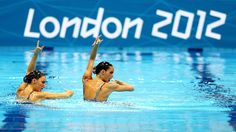 Carbonell Ballestero and Andrea Fuentes Fache of Spain compete in the Synchronised Swimming - Duets - Technical Routine on Day 9.