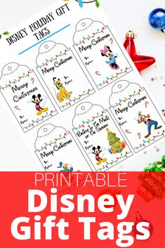 Wrapping a gift for a Disney fan? Get your FREE Printable Disney Gift Tags! Save two designs: Disney's Frozen or classic fab five characters! Christmas Tags Printable, Gift Tags Printable, Christmas Gift Tags, Disney Christmas Decorations, Disney Christmas Shirts, Disney Gift, Disney Crafts, Mickey's Very Merry Christmas, Christmas Time