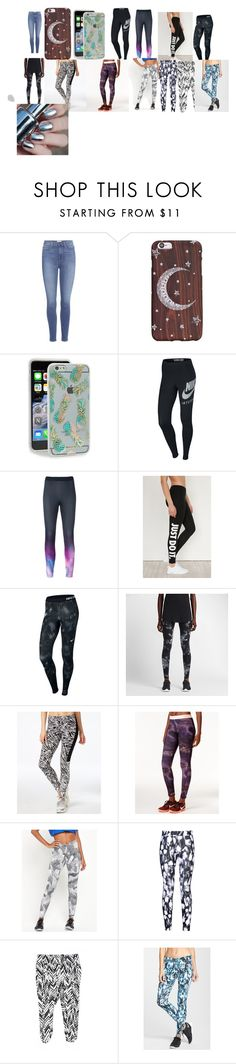 """and finally the last one"" by chloejwallman ❤ liked on Polyvore featuring Paige Denim, Sonix and NIKE"