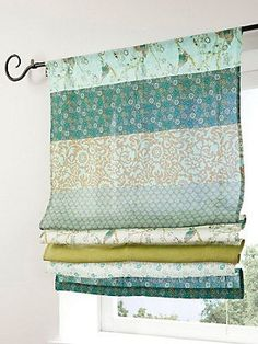 Schöne Vintage-Raffrolos - Another! No Sew Curtains, Home Curtains, Curtains With Blinds, Kitchen Curtains, Diy Roman Shades, Curtain Designs, Window Coverings, Window Treatments, Soft Furnishings