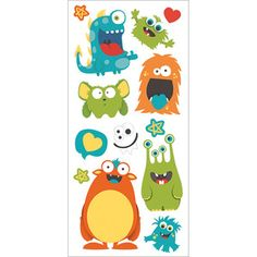 "Monsters - Paper House Puffy Stickers 3""X6.35"""