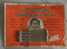 Rare Vintage Hair waver rollers Curlers Downton Abbey Gatsby Miss Fisher - Fenchel Rezept Vintage Makeup, Vintage Vanity, Gatsby, Electric Hair Curlers, Hairband Hairstyle, Hot Tub Time Machine, Hair Waver, Downton Abbey Fashion, 1920s Hair