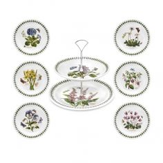 Bring the garden party indoors with this botanically correct cake service set from Portmeirion! Hands Jewelers carries a wide array of pieces from this fine British china maker.