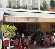 Tribeca, trendy new bistro on rue - they have great pizzas aNd drinks! :)