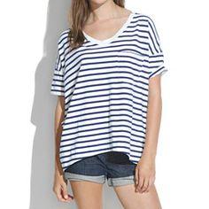 Women's Tees & More : Nautical, Drape & V-neck Tees   Madewell.com