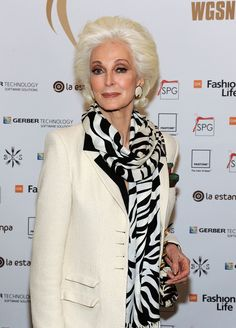 Carmen Dell'Orefice Model Carmen Dell Orefice attends the Glbal Fashion Awards at The Waldorf Astoria on November 10, 2010 in New York, New ...