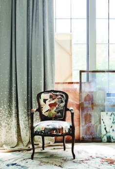 Our collection of painterly textiles inspired by the female artist. Diy Interior, Interior Decorating, Interior Design, Contemporary Fabric, Modern Contemporary, Vinyl Wallpaper, Living Room Sofa, Female Artist, Home