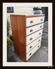 Restored/Upcycled Solid Rimu Tall Boy | Trade Me