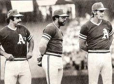 Sal Bando, Reggie Jackson, and Joe Rudi, Oakland Athletics
