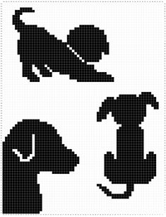 Pattern: Draped In Dogs Afghan – Evelyn And Peter Crochet – Carpe Diem Willkommen Crochet Dog Patterns, Stitch Patterns, Manta Animal, Pattern Draping, Crochet Bedspread, Crochet Afghans, Dog Blanket, Single Crochet Stitch, Knitting Charts