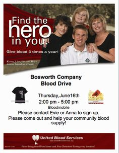 Join us in helping our community blood supply! #BosworthCompany #BloodDrive #GiveBlood #MidlandTX
