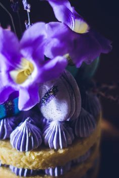 Lavender Naked Cake