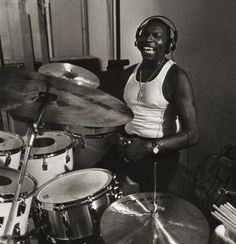 Elvin Ray Jones (1927- 2004) was an American jazz drummer of the Post- bop era. RESEARCH #cSw:) - JAZZ & ALL THAT - https://www.pinterest.com/claxtonw/jazz-and-all-that/ - Began drumming as child, after watching circus bands march by family home in Michigan. Served in U.S.  Army 1946-49. Moved to New York in 1955: Worked as a sideman for Charles Mingus, Teddy Charles, Bud Powell and Miles Davis. 1960-1966:  John Coltrane quartet. Inducted Modern Drummer Hall of Fame 1995. Cropped Photo…