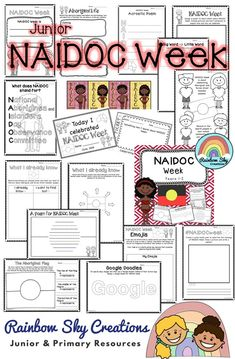 NAIDOC Week Pack - This pack consists of 14 activities suitable for Year 1 & 2 designed to encourage students to think about the message of NAIDOC Week and to recognise the contributions of Indigenous Australians to our country. Year 1 Classroom, Primary Classroom, Naidoc Week Activities, Activities For Kids, School Resources, Teaching Resources, Indigenous Education, Curriculum Design, Rainbow Sky