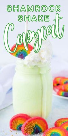 Make your own Copycat Shamrock Shake Recipe at home, no need to even get out of your PJ's. This easy to make dessert favorite is perfect for St. Patrick's Day or anytime you'd like. #shamrockshake #copycatshamrockshake #stpatricksdaydessert Amazing Recipes, Delicious Recipes, Sweet Recipes, Easy Recipes, Easy To Make Desserts, Easy Food To Make, Fun Desserts, Thanksgiving Recipes, Holiday Recipes