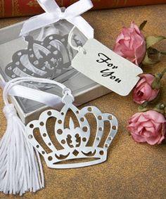 Crown design bookmark favors http://www.1weddingsource.com/store/index.php/crown-design-bookmark-favors