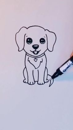 Easy Doodles Drawings, Art Drawings Sketches Simple, Pencil Art Drawings, Sketch Art, Cute Doodle Art, Doodle Art Designs, Cute Doodles, Doodle Art Simple, Cute Little Drawings
