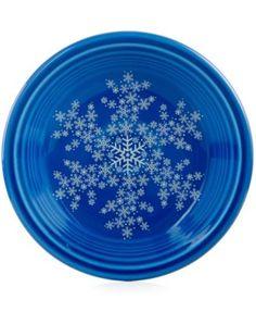 Macyu0027s Exclusive Snowflake Dessert Plate from Fiesta® Dinnerware in Lapis | macys.com  sc 1 st  Pinterest & 8 RETIRED CHOCOLATE BROWN FIESTA 10.5