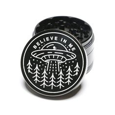 Laser Engraved Herb Grinder They Are Out There Aliens Design