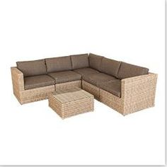 Kontiki Conversation Sets - Wicker Sectional Sets Mojave 6 Piece Sectional