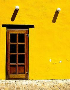 This yellow for the lawn side garage - the darker stained door can tie in to the red fron of the garage and other sanate fe colors around frame and windows. Shades of Yellow. 3 Chakra, Pink Lila, Jaune Orange, Mellow Yellow, Bright Yellow, Colour Yellow, Yellow Fever, Yellow Art, Bright Colours
