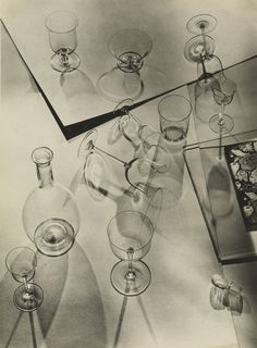 Walter Peterhans. Composition with Nine Glasses and Decanter, 1929–1933.