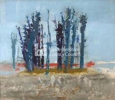 Arbres bleus, by Pierre Lavarenne