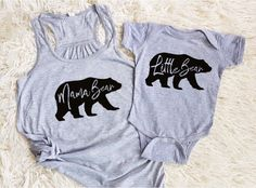mama bear baby bear little bear matching mommy and me shirts mother daughter shirts mother son shirt matching family tank tops by EatSleepDrool on Etsy