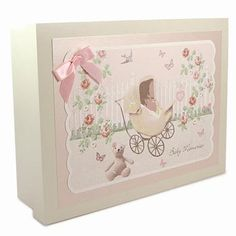 Wooden Baby Girl Memories Box - Rose Cottage from Born Gifted