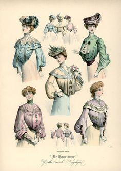[De Gracieuse] Verschillende tailles en blouses (July 1903)