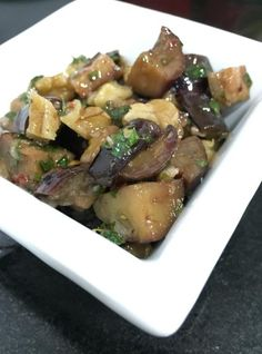 Salada de berinjela assada