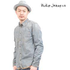 Nudie Jeans(ヌーディージーンズ) デニムシャツ 長袖【送料無料】 sh-nude-035