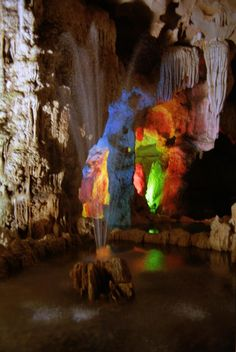 The cave in Ha Long Bay
