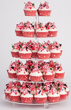 YestBuy 5 Tier Round Acrylic Cupcake Stand with Base >>> Find out more about the great product at the image link.