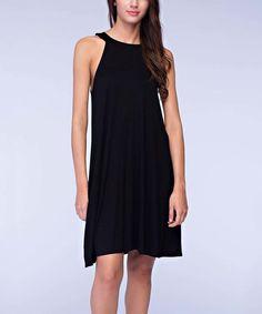 Look at this #zulilyfind! Black Cutout Yoke Dress #zulilyfinds