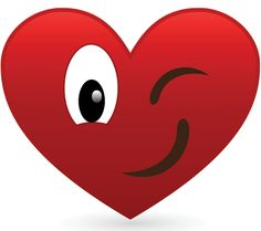 Winking Heart ~ This heart has a wink for someone special! Heart Smiley, Heart Emoticon, Smiley Emoji, Smileys, I Love Heart, Happy Heart, Valentine Crafts, Be My Valentine, Emoji Movie