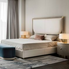 Rugiano is an italian manufacturer of luxury furniture Bed Furniture, Luxury Furniture, Furniture Design, Bedroom Wall, Bedroom Decor, Hotel Bedroom Design, Hallway Decorating, Cool Beds, Luxurious Bedrooms