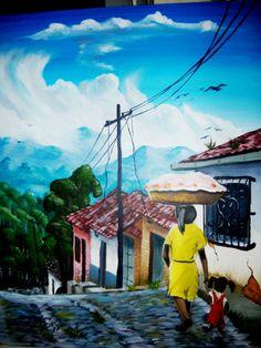 El Salvador art | TYPICAL PAINTINGS IN ACRYLIC GALLERY | kiq'G Art