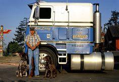 Vintage Wall Art, Vintage Walls, Truck Transport, Freightliner Trucks, Milwaukee Wisconsin, Gas Station, Big Trucks, Historical Photos, Rigs