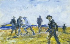 """Jack Butler Yeats (Irish, Something in the Air, Oil on board, 9 x 14 in. Kensington School, Irish Painters, Jack B, Short Stories For Kids, Irish Art, Urban Life, Large Canvas, Sculptures, Fine Art"