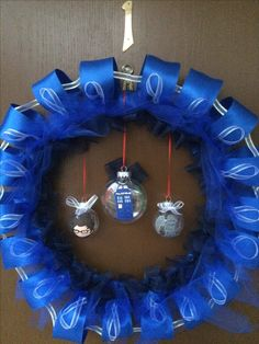 Dr Who ribbon wreath
