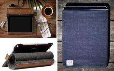Hand Graft leather+felt ipad case (left).