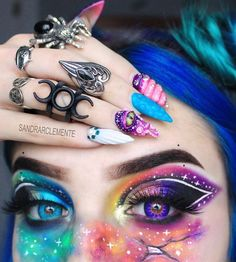 Best 20 Natural Prom Makeup Ideas and Tutorials in 2019 – – permanent make up Eye Makeup Designs, Eye Makeup Art, Beauty Makeup, Fairy Makeup, Mermaid Makeup, Crazy Makeup, Cute Makeup, Makeup Looks, Creative Eye Makeup