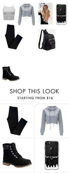 """Look"" by ciana-si on Polyvore featuring moda, J Brand, Timberland e Casetify"
