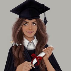 Imagen de girly_m, graduation, and drawing