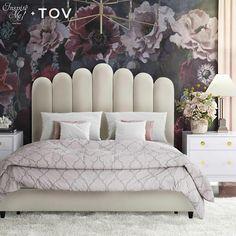 Tov Furniture Celine Cream Velvet Bed In Queen Tov Home Decor Furniture Bedroom Furniture Beds Tufted Bed, Upholstered Platform Bed, Upholstered Beds, Cream Bedding, Queen Size Bedding, Comforter Sets, Bedroom Furniture Stores, Bed Furniture, Rustic Furniture
