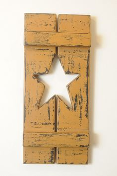 Primitive Star Shutter by englertandenglert on Etsy, $15.00
