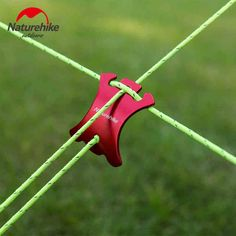 Outdoor 6061 Aluminum Alloy Arcline Shape Slide Adjustment Rope Buckle Of Tent Red Sunshade Clip Camping Accessories 8G 4PC/Bag