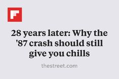 28 years later: Why the '87 crash should still give you chills http://flip.it/8ynkS